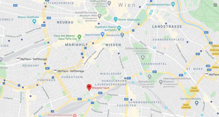 Google Standortbild vom Wissens°raum