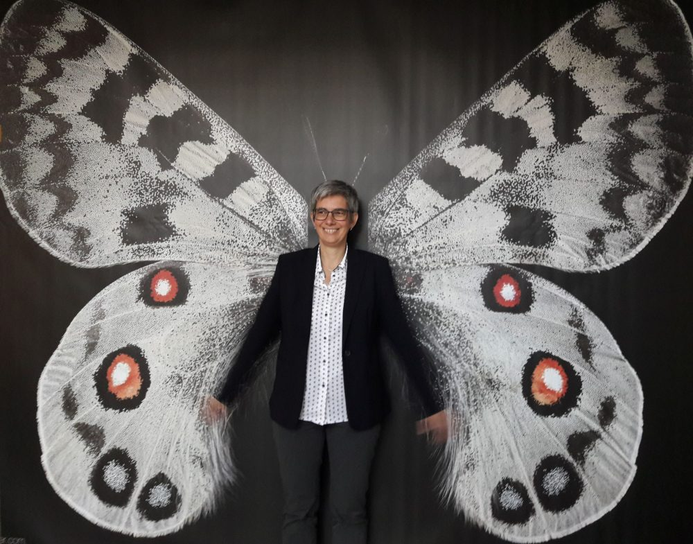 Barbara Streicher als Schmetterling